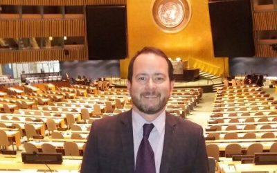 Sergio Botinha visits the United Nation's offices in New York